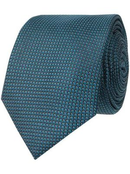 Krawat z jedwabiu turkusowy Ck Calvin Klein
