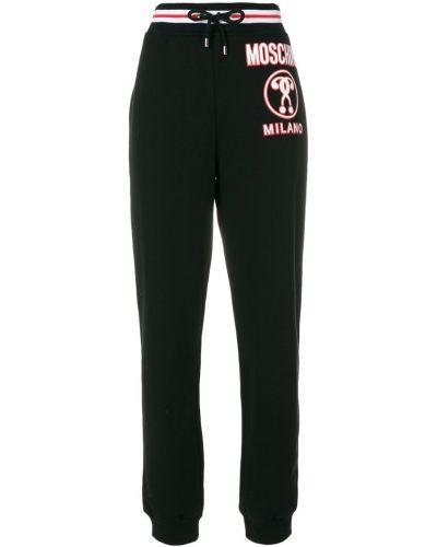 Спортивные брюки с отворотами в рубчик Moschino