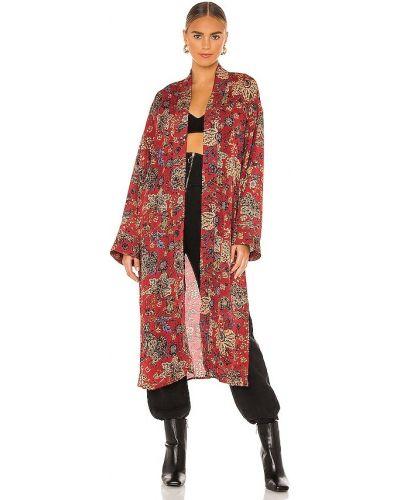 Bezpłatne cięcie brązowy kimono z wiskozy bezpłatne cięcie Free People