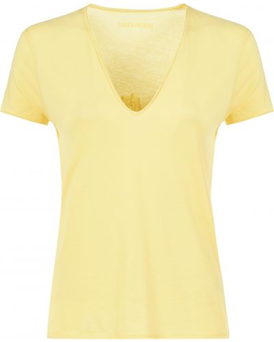 Хлопковая футболка - желтая Zadig & Voltaire