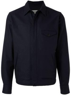 Klasyczna niebieska kurtka wełniana Kent & Curwen
