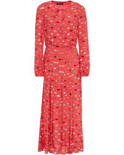 Платье миди на пуговицах - красное Markus Lupfer