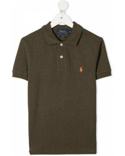 T-shirt dzianinowa - zielona Polo Ralph Lauren