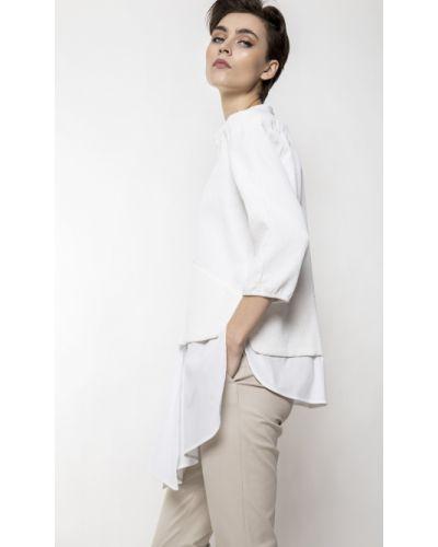 Bluzka koszulowa - biała Deni Cler Milano