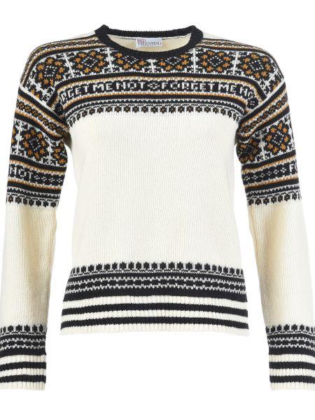 Белый свитер шерстяной Red Valentino