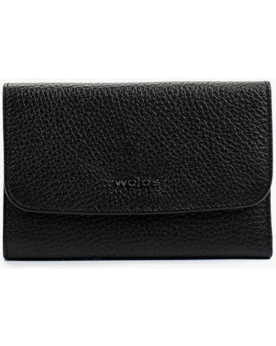 Черный кожаный кошелек Wojas