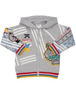 Bluza z kapturem z kapturem na sznurowadłach Kenzo Kids