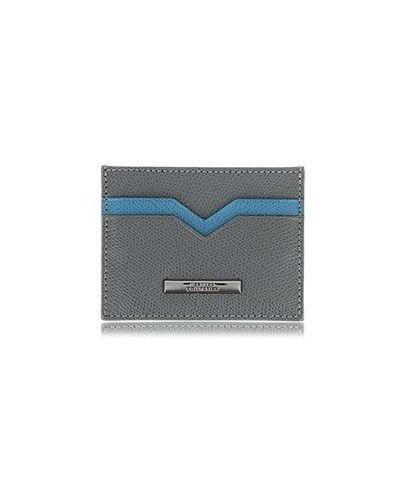 Повседневный серый кожаный кошелек Versace Collection