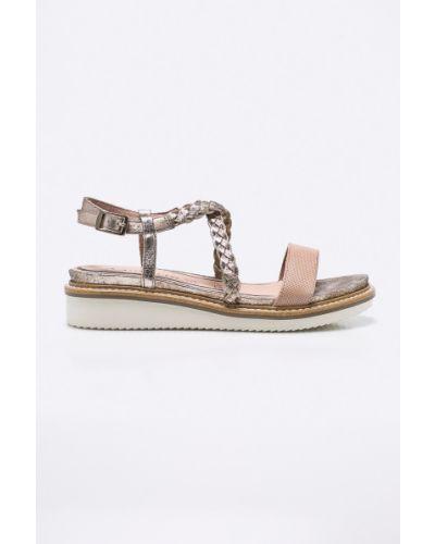 Розовые сандалии текстильные Tamaris