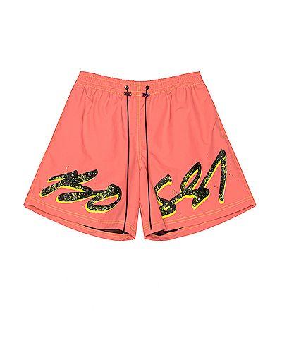 Оранжевые нейлоновые плавки с карманами Bossi