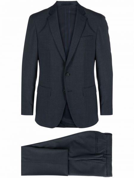 Niebieski garnitur wełniany z długimi rękawami Boss
