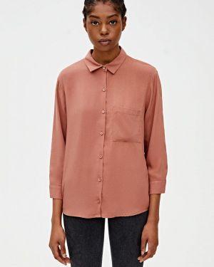 Блузка с длинным рукавом розовая Pull&bear
