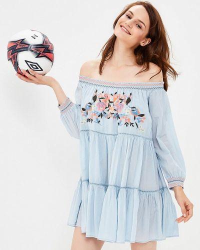 Платье с открытыми плечами весеннее Free People