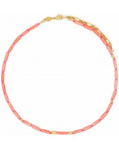Naszyjnik łańcuch - różowy Anni Lu