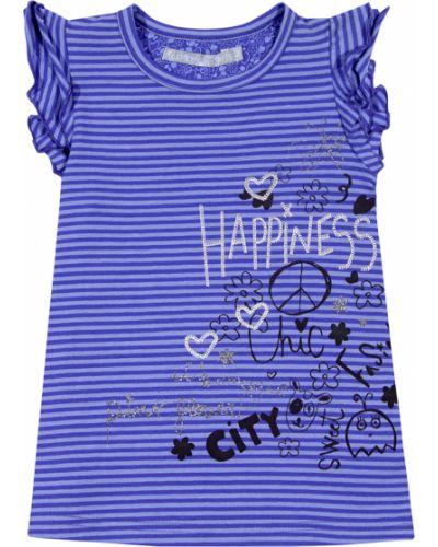 Хлопковая фиолетовая свободная футболка Losan
