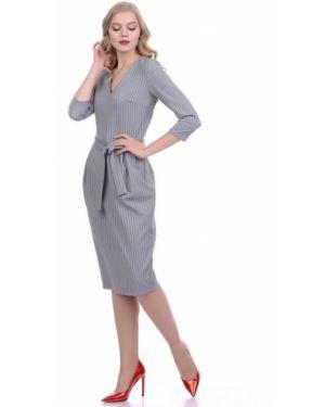 Деловое платье с V-образным вырезом со складками Lautus