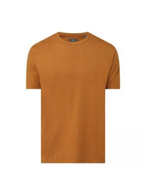 Brązowy t-shirt bawełniany Esprit Collection