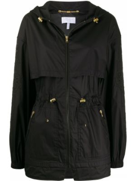 Пальто с капюшоном - черное Escada Sport