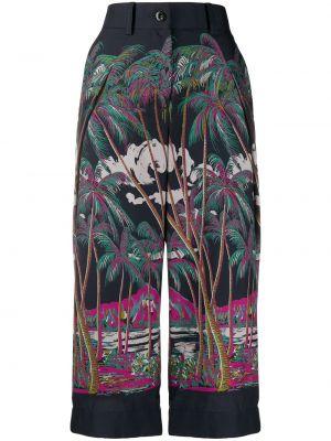 Укороченные брюки с поясом с карманами Sacai