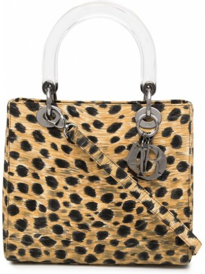 Czarna torebka z printem Christian Dior