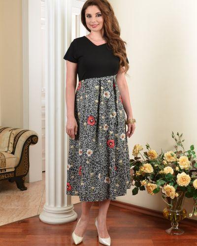 Платье миди в стиле бохо с V-образным вырезом со складками на молнии Salvi-s