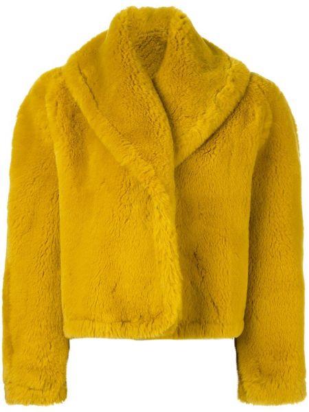 Желтая шуба из искусственного меха винтажная Jean Paul Gaultier Pre-owned