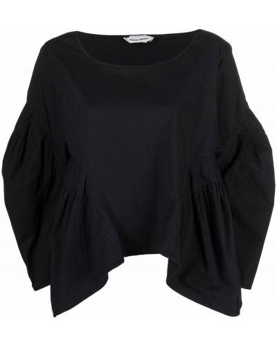 Черная блузка с вырезом Henrik Vibskov