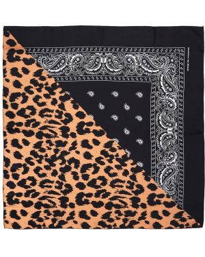 Шарф леопардовый шелковый Ziq & Yoni