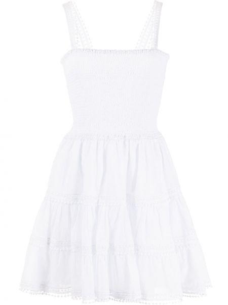 Biała sukienka rozkloszowana bawełniana Charo Ruiz Ibiza