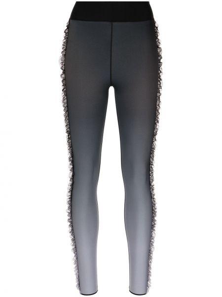 Czarne legginsy z nylonu Ultracor