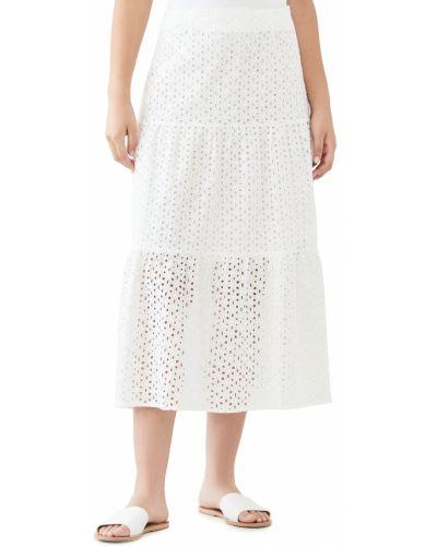 Белая юбка миди с подкладкой на крючках Minkpink