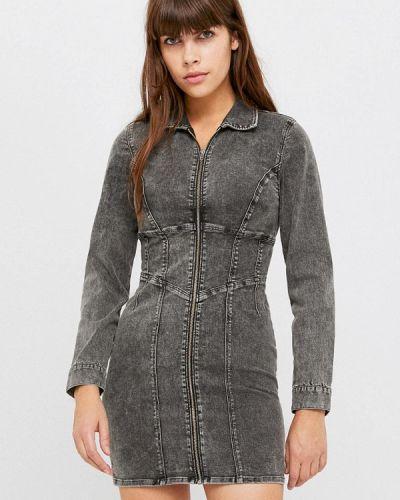 Серое джинсовое платье Tally Weijl
