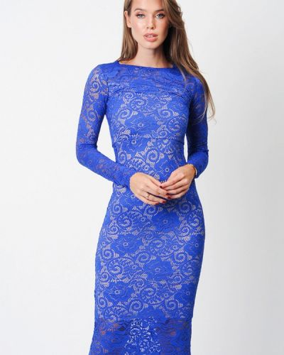 Вечернее платье осеннее синее Margo
