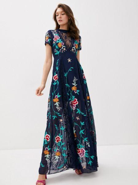 Вечернее платье синее весеннее Frock And Frill