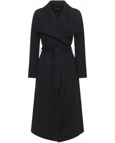 Черное шерстяное пальто Mackage