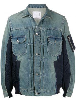 Klasyczne niebieskie jeansy bawełniane Sacai