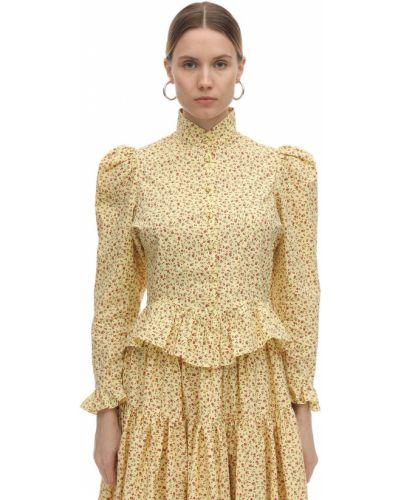 Блузка с рукавами буфами
