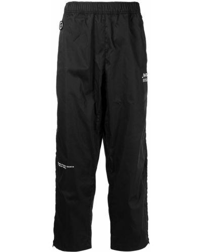 Свободные черные брюки с поясом Aape By A Bathing Ape