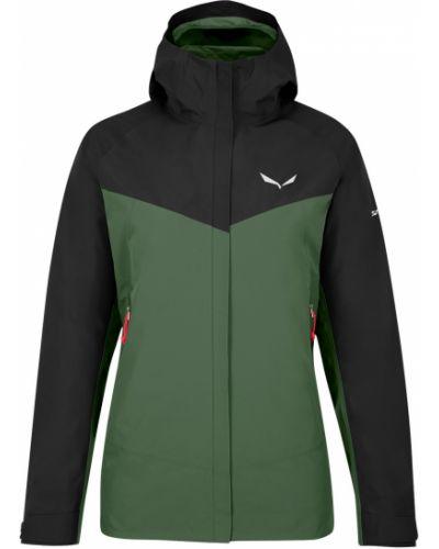 Черная спортивная куртка с капюшоном на молнии Salewa