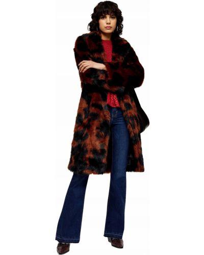 Klasyczny czarny płaszcz z długimi rękawami Topshop