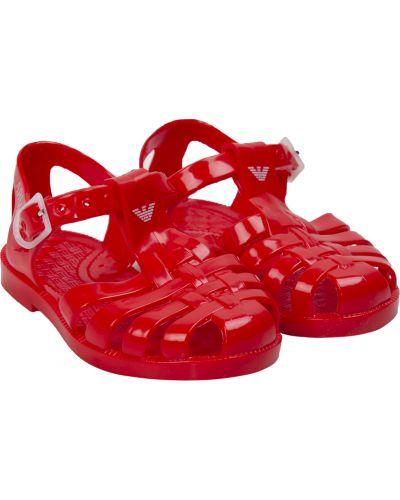 Пляжные красные босоножки с подкладкой Armani Junior
