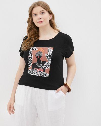 Черная футболка с короткими рукавами Rosa Thea