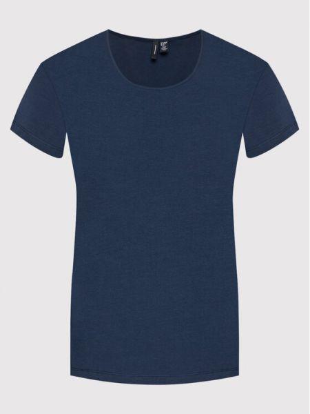 T-shirt granatowa Vero Moda Curve