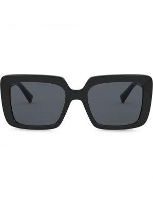 Черные солнцезащитные очки квадратные со стразами Versace Eyewear