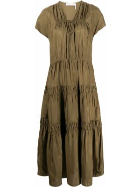 Платье из вискозы хаки See By Chloe