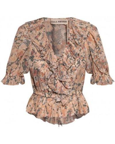 Różowa bluzka Ulla Johnson