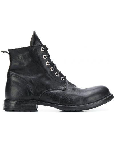 Кожаные ботинки треккинговые на шнуровке Moma