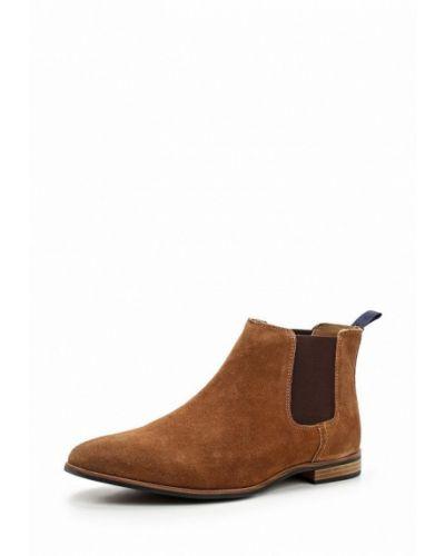 Коричневые ботинки замшевые Topman