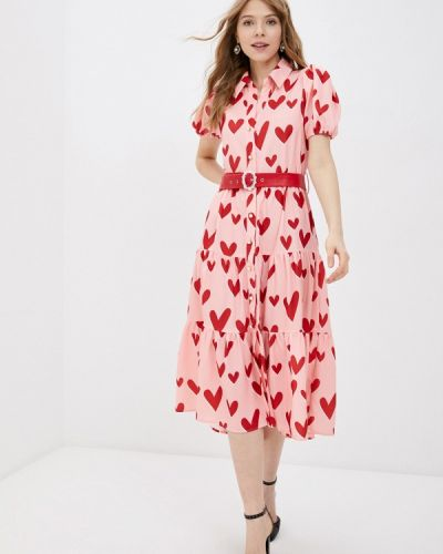 Розовое платье-рубашка Sister Jane