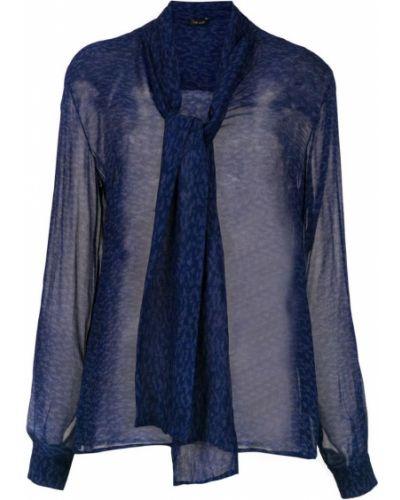 Блузка с длинным рукавом прозрачная синяя Tufi Duek